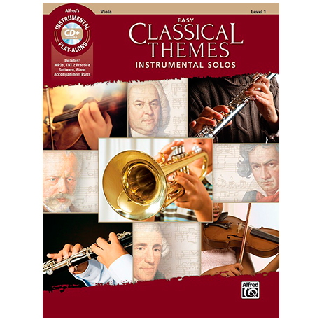 Easy Classical Themes for Viola (+MP3-CD)