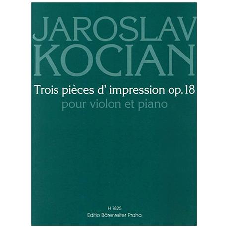 Kocián, J.: Trois pièces d'impression Op. 18