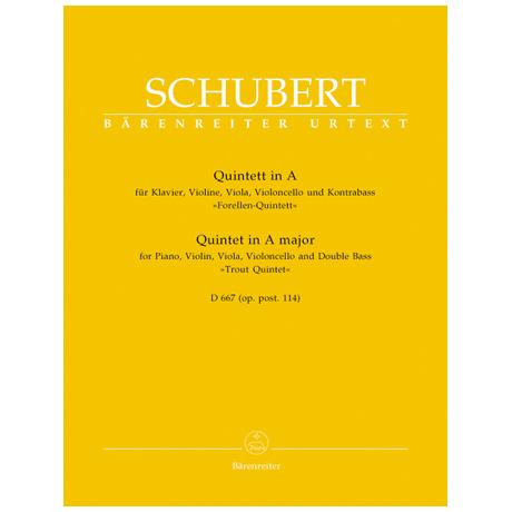 Schubert, F.: Klavierquintett D 667 Op. posth. 114 A-Dur »Forellenquintett«