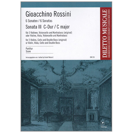 Rossini, G. A.: Sonata Nr. 3 C-Dur – Partitur