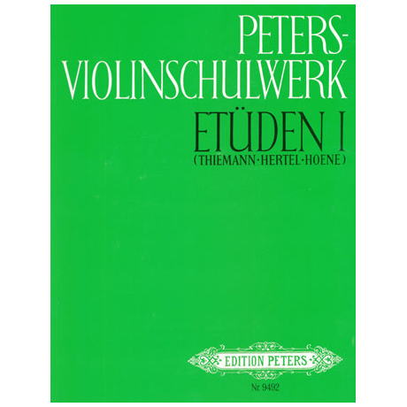 Peters Violinschulwerk Etüden Band 1