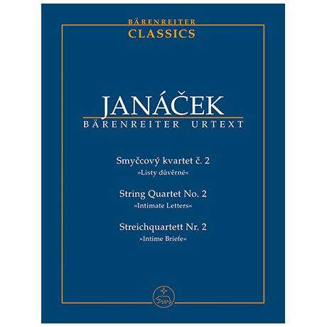 Janácek, L.: Streichquartett Nr. 2 »Intime Briefe«