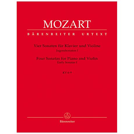 Mozart, W. A.: 4 Violinsonaten KV 6-9
