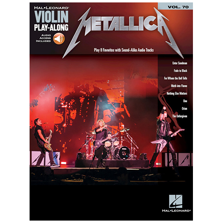 Metallica for Violin (+Online Audio)
