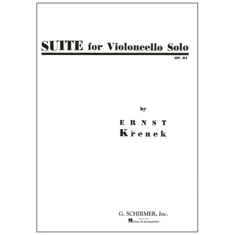 Krenek, E.: Cello-Suite Op. 84