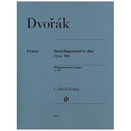 Dvořák, A.: Streichquartett Op. 106 G-Dur – Stimmen