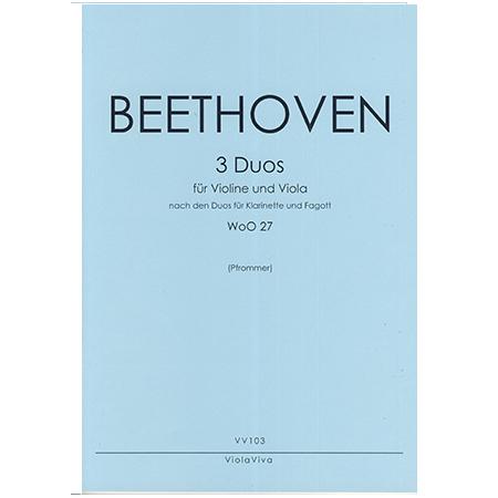 Beethoven, L. v.: 3 Duos WoO 27