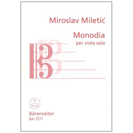 Miletic, M.: Monodia per Viola sola
