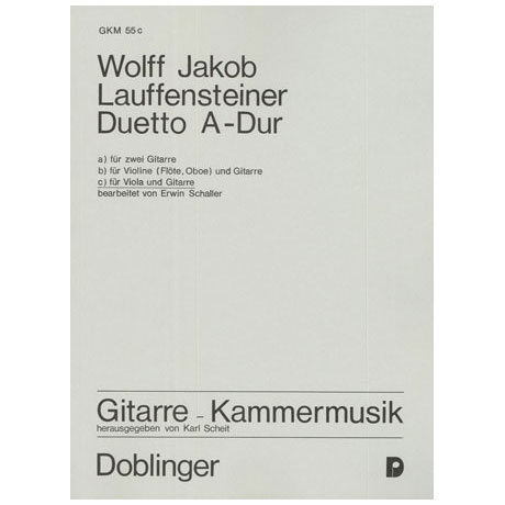 Lauffensteiner, W. J.: Duetto A-Dur