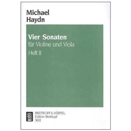Haydn, M.: 4 Violasonaten Band 2 (Nr. 3-4)