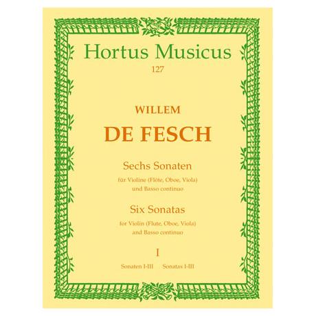 Fesch, W. d.: Sechs Sonaten - Band 1