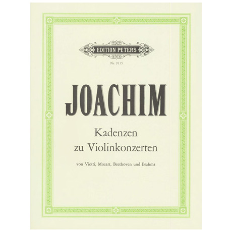 Joachim, J.: Kadenzen zu div. Violinkonzerten