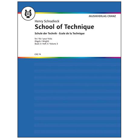 Schradieck, H.: Schule der Violatechnik Band 3