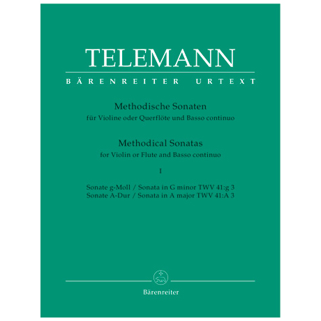 Telemann, G. Ph.: Methodische Sonaten – Band 1
