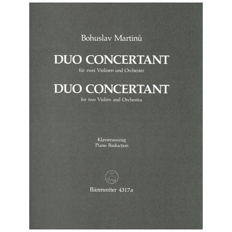 Martinu, B.: Duo concertant (1937)