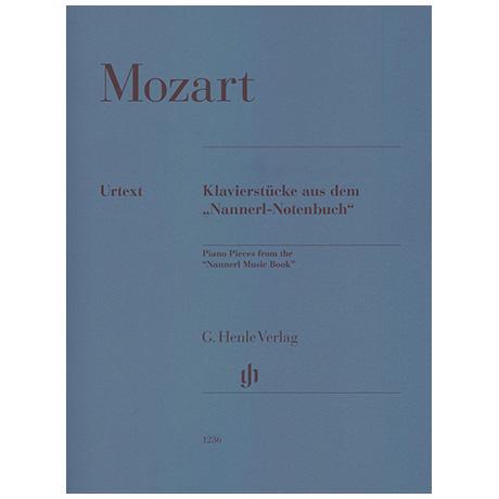 Mozart, W. A.: Klavierstücke aus dem »Nannerl-Notenbuch«