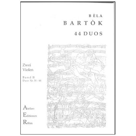 Bartok, B.: 44 Duos für 2 Violen Bd. 2