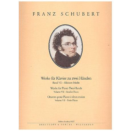 Schubert, F.: Sämtliche Klavierwerke Band VII: Kleinere Stücke