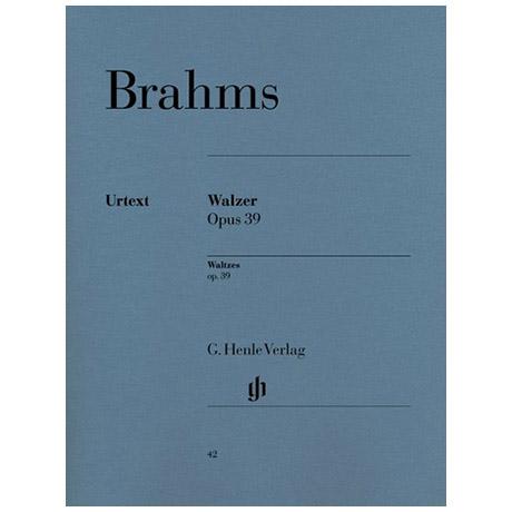 Brahms, J.: Walzer Op. 39