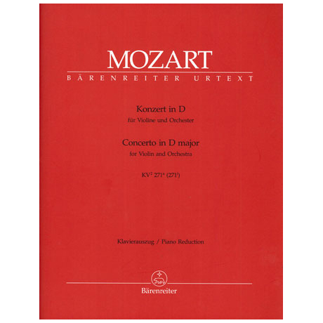 Mozart, W. A.: Violinkonzert KV 271a D-Dur