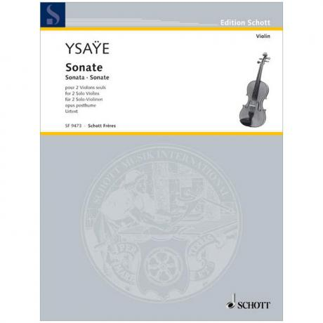 Ysaÿe, E.: Sonate Op. posth.