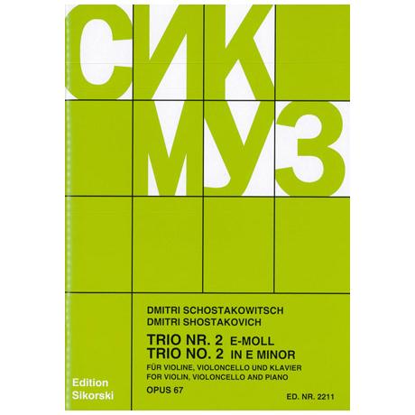 Schostakowitsch, D.: Klaviertrio Nr. 2 Op. 67 e-Moll