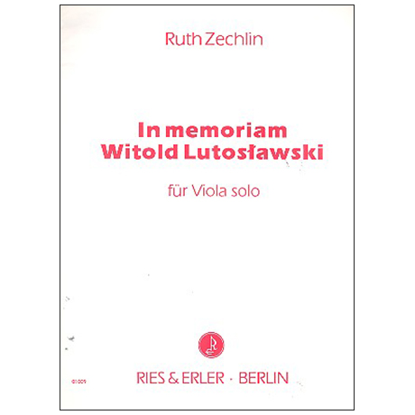 Zechlin, R.: In memoriam Witold Lutosławski (1995)