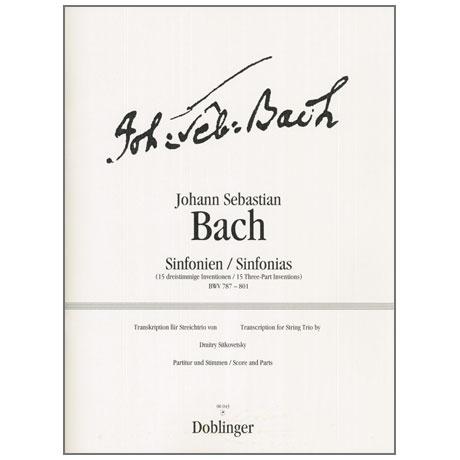 Bach, J. S.: Sinfonien nach den dreistimmigen Inventionen BWV 787-801 (Sitkovetsky)