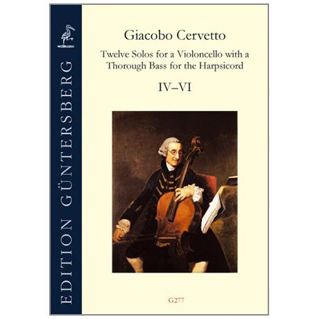 Cervetto, G.: Twelve Solos op. 2 – Sonate IV-VI