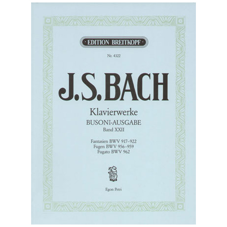 Bach, J. S.: Fantasien, Fugen, Fugato e-Moll
