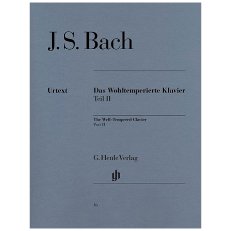 Bach, J. S.: Das Wohltemperierte Klavier Teil II