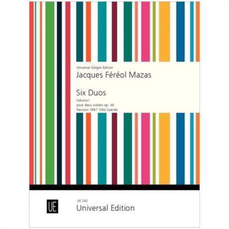 Mazas, J. F.: 6 Violinduos Op. 39 Band 1