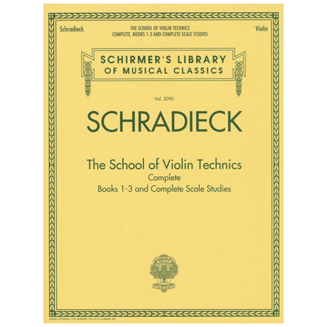 Schradieck: The School of Violin Technics Complete