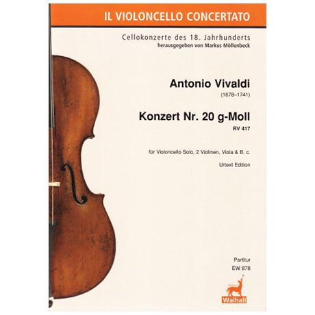 Vivaldi, A.: Violoncellokonzert Nr. 20 g-Moll RV 417