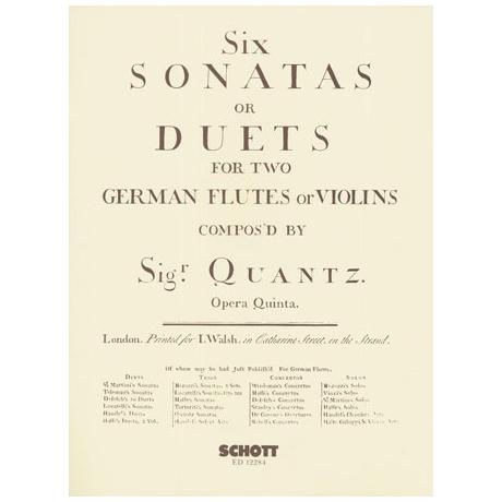Quantz, J. J.: 6 Sonatas or Duets