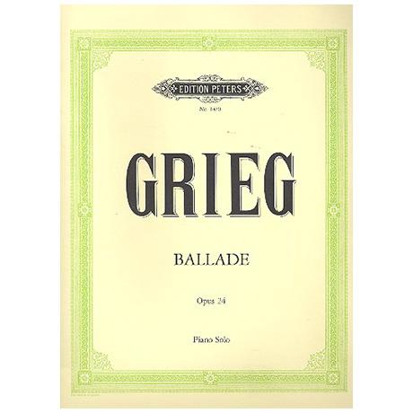 Grieg, E.: Ballade g-Moll Op. 24