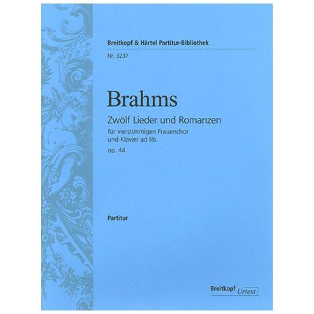 Brahms, J.: 12 Lieder und Romanzen Op. 44