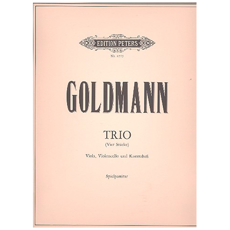 Goldmann: Trio (4 Stücke) Spielpartitur