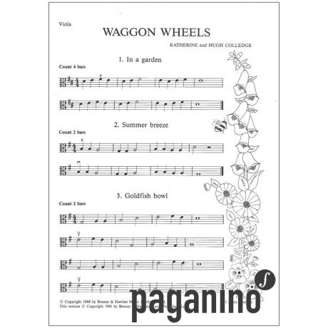Colledge, K. & H.: Waggon wheels – Violastimme