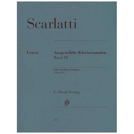 Scarlatti, D.: Ausgewählte Klaviersonaten Band III