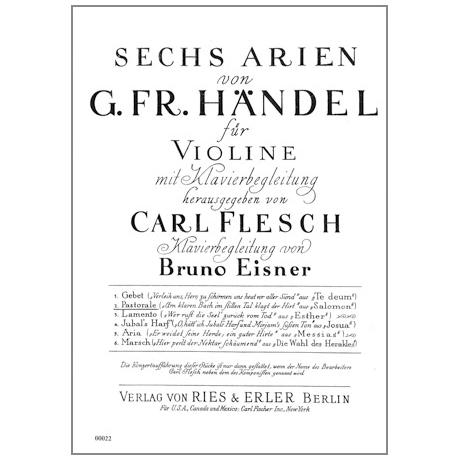 Händel, G. F.: 6 Arien Band 2 — Pastorale