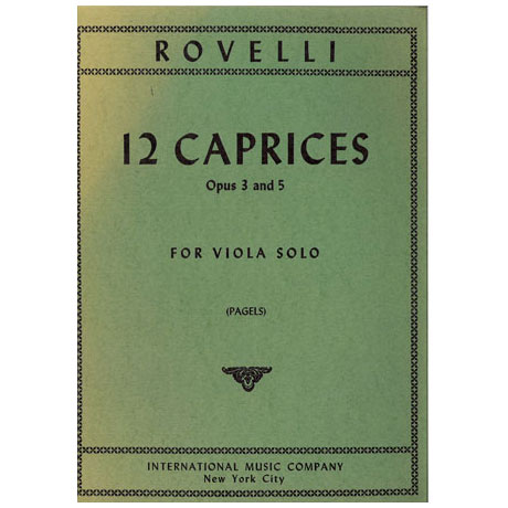 Rovelli, P.: 12 Caprices op. 3 & op. 5