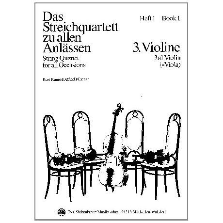 Das Streichquartett zu allen Anlässen Band 1 – Violine 3/Viola