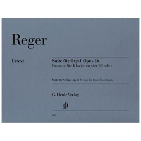 Reger, M.: Suite e-Moll für Orgel Op. 16