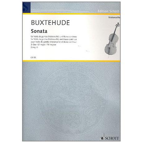 Buxtehude, D.: Violoncellosonate D-Dur