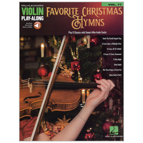 Favorite Christmas Hymns for Violin (+Online Audio)