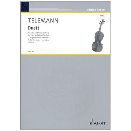Telemann, G. Ph.: Duett aus »Der getreue Musikmeister« A-Dur
