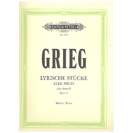 Grieg, E.: Lyrische Stücke Heft III Op. 43