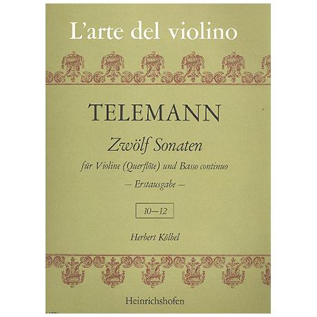 Telemann, G. Ph.: 12 Violinsonaten Band 4 (Nr. 10-12)