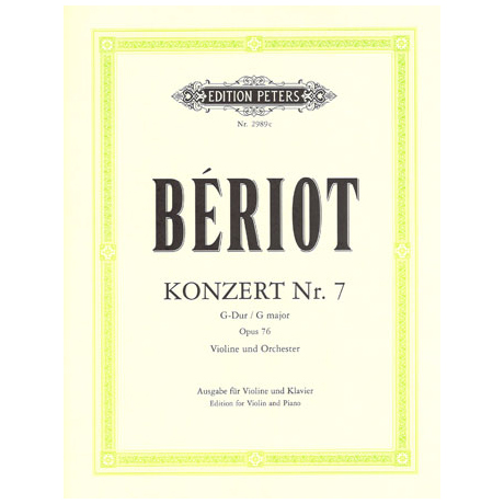 Bériot, Ch. d.: Violinkonzert Nr. 7 Op. 76 G-Dur